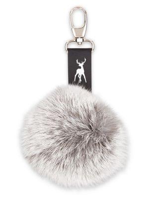 Pompom Keychain in Alpine Hare - Silver Grey