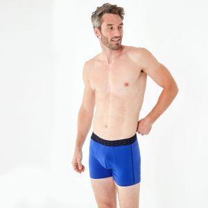 Pack de 2 boxers bleu et marine en coton stretch