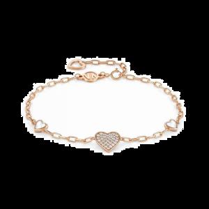 Bracelet coeur RG 16,5-19,5cm