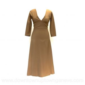 DSquared2 dress in tan wool with 3/4 sleeve