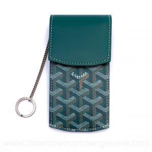 Goyard key holder in green