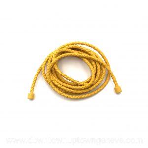 Bottega Veneta cord belt in yellow intrecciato nappa