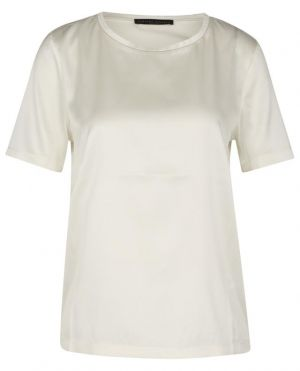 T-shirt en satin brodé de perles