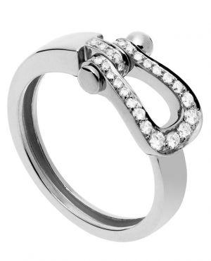 Bague Force 10 Moyen Modèle en or blanc et diamants