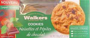 Walkers Noisettes Petites De Chocolat 150g