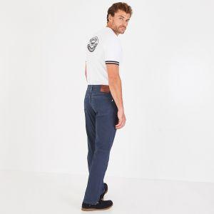 Jean bleu marine en toile de coton stretch