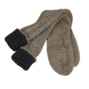 Chaussettes réversibles noir & taupe