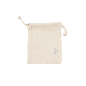 Pochette en coton bio écru 12 x 15 cm