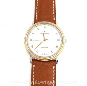 Blancpain  Villeret watch in yellow gold and steel