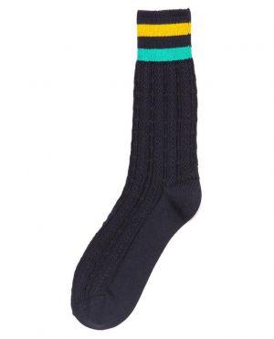 Chaussettes courtes torsadées à rayures Bunch