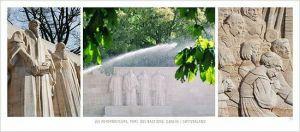 cartes postales panoramiques (lot de 10) - le mur des Réformateurs (Genève, parc des Bastions)