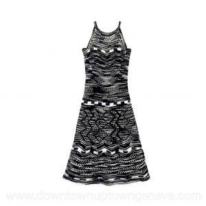 M Missoni dress in navy & white crochet cotton