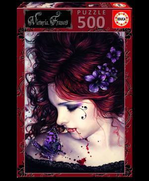 Puzzle 500 pcs - Papillons - Victoria Francés