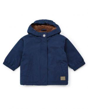 Manteau à capuche avec fourrure pour bébé Dako