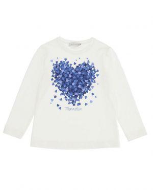 T-shirt fille en jersey avec coeurs