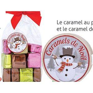 Mini Boite bois Caramels de Noël