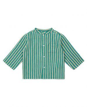 Chemise bébé rayée en coton Inter
