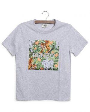 T-shirt garçon à manches courtes imprimé Jungle Tiger