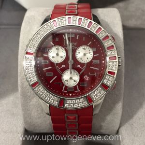 Dior Christal watch with diamond and red band