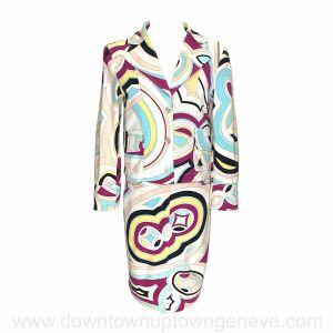 Emilio Pucci vintage suit in multi-coloured cotton denim