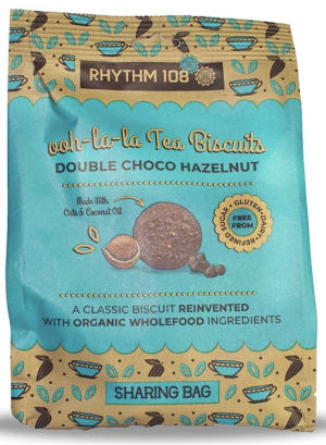 8 X RHYTHM 108 Tea Biscuits DOUBLE CHOCO HAZELNUT 135g