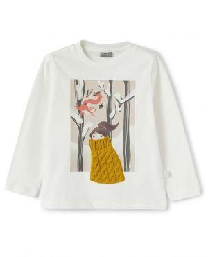 T-shirt à manches longues fille Balade dans la forêt