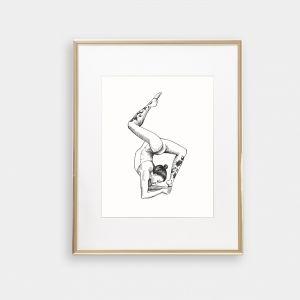 Yoga Series Art Print