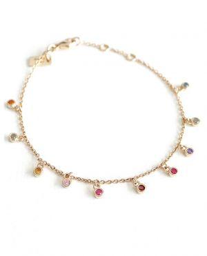 Bracelet doré Rainbow