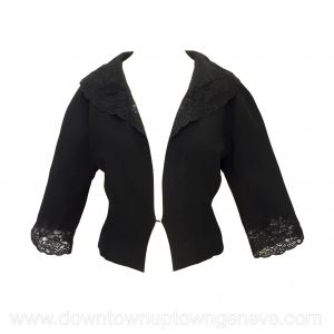 Dior vintage jacket in black with lace trim