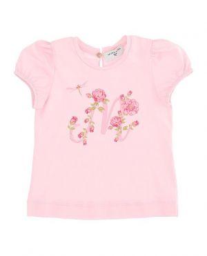 T-shirt bébé imprimé monogramme fleuri