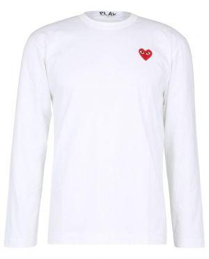 T-shirt à manches longues et patch Red Heart
