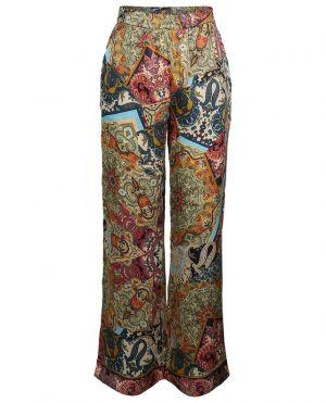 Pantalon large en viscose imprimée