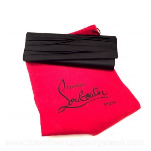 Louboutin evening purse in black satin