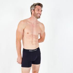 Pack de 2 boxers rouge et marine en coton stretch