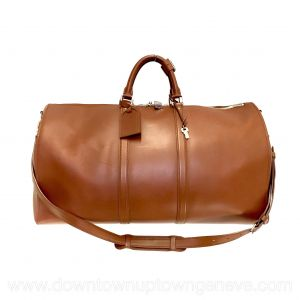Louis Vuitton Keepall 55 bag in light brown leather
