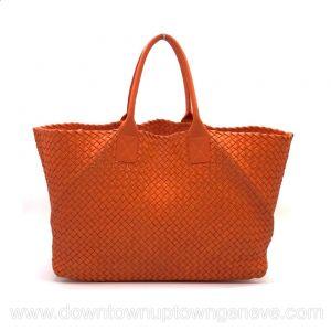 Bottega Veneta GM cabat in intrecciato nappa in orange