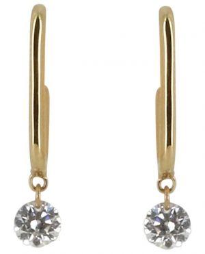 Mono-clou d'oreille en or jaune avec diamant Trombone