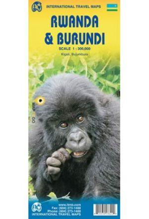 Burundi Rwanda 1:300 000 - 6th Edition de  Collectif