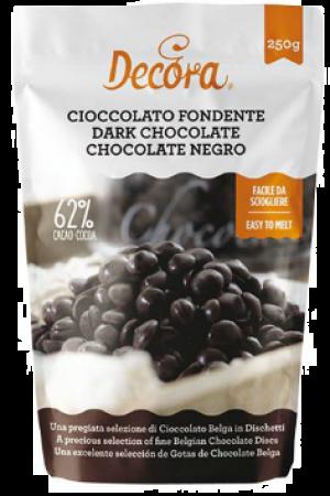Chocolat noir (62% de cacao), en pistoles, 250 g