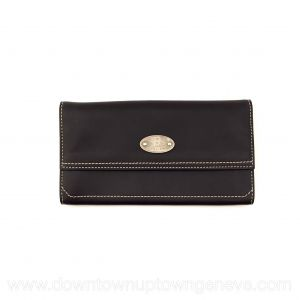 Céline Boogie vintage wallet in brown leather with white stitch