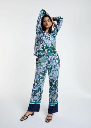 Pantalon Alice à imprimé tropical