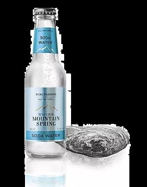 24 X SWISS MOUNTAIN SPRING SODA WATER Bottle 200ml