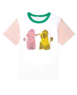 T-shirt fille en coton bio Love Poodles