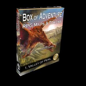 Livre plateau de jeu: Box of Adventure - RPG Maps and Tokens