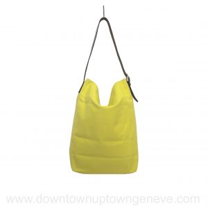 Hermès Tote beach bag in yellow canvas