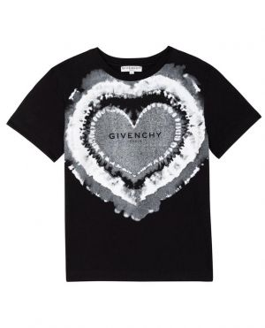 T-shirt fille imprimé Tie-Dye-Logo Heart