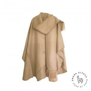 Cape beige avec foulard