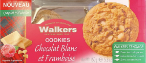 Walkers Chocolat Blanc Framboise 150g