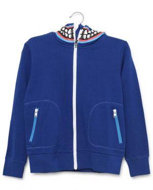 Sweat-shirt zippé à capuche en jersey durable Monster