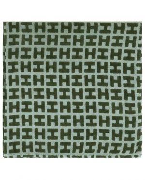 Bademini-CS pochette monogrammée en cachemire et soie